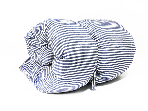 Sur La Mer Throwbed In Blue Narrow Stripe