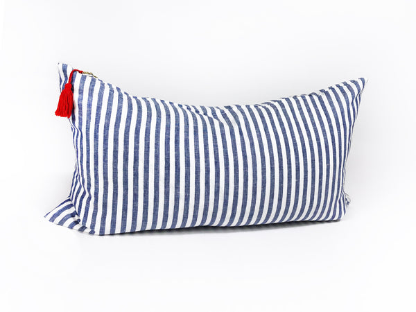 "Sur La Mer Pillow In Blue Narrow - 14"" x 26"""