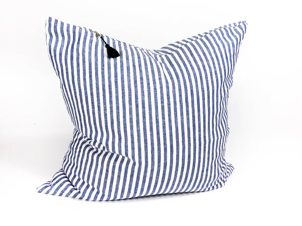 Sur La Mer Narrow Pillow In Linen - 26""
