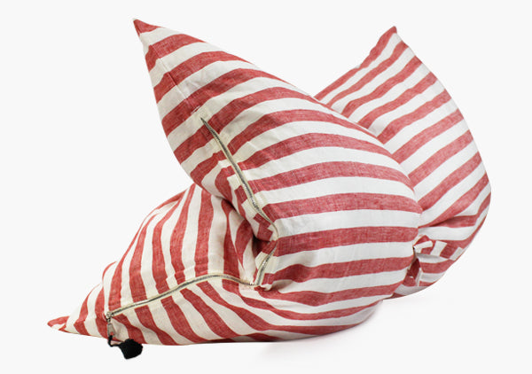Sur La Mer Mini Throwbed In Red | Hedgehouse