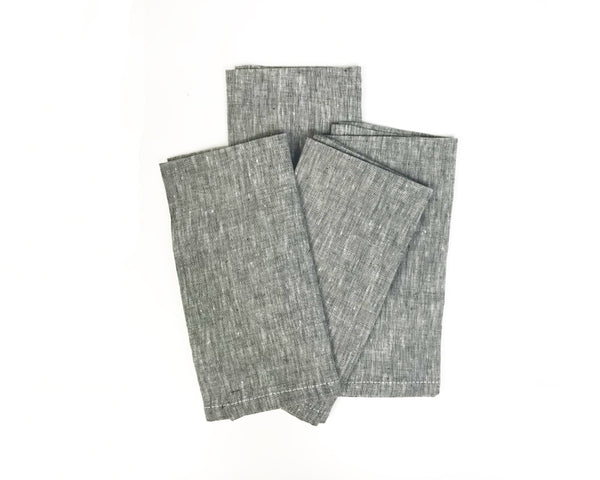 Solid Napkin in Charcoal | Hedgehouse