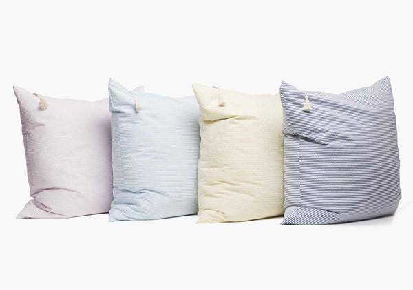 Lyford Seersucker Pillow In Light Blue - 26"