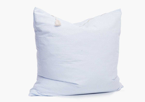 Lyford Seersucker Pillow In Light Blue - 26""