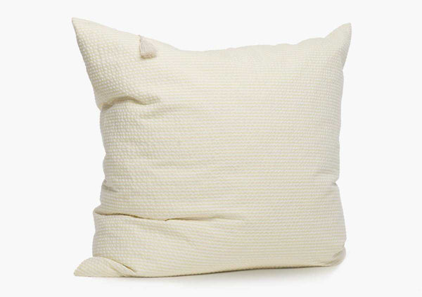 Lyford Seersucker Pillow In Yellow - 26"