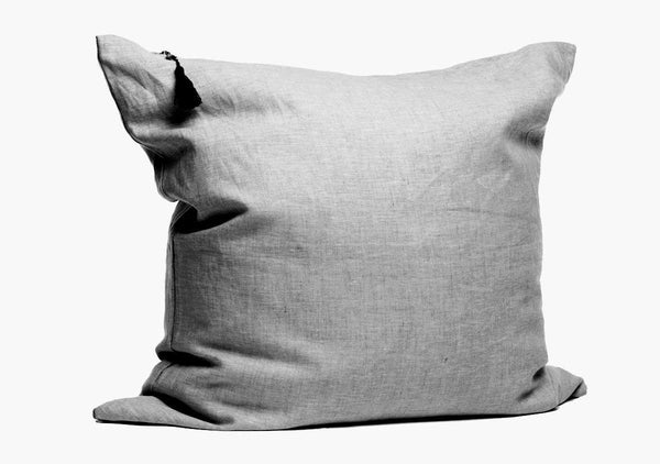 "Solid Pillow In Charcoal - 26"" x 26"""