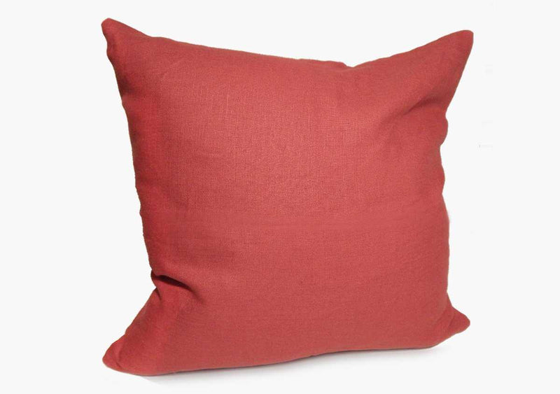 Throw Pillow in Solid Red