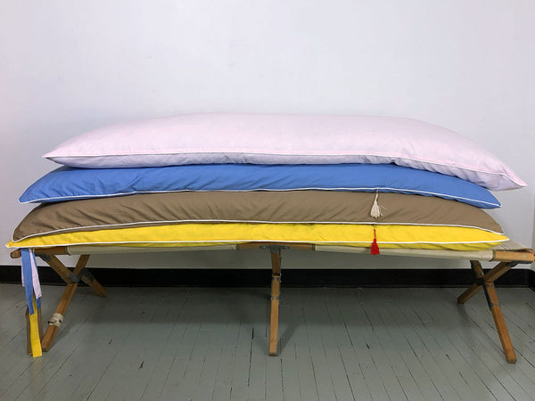 Aveira Throwbed in Yellow Cotton Shirtcloth | hedgehouseusa
