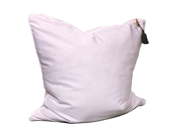 Aveira Throw Pillow in Pink Shirtcloth with White Pipe – 26"