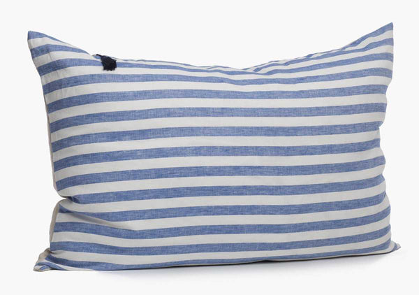 Sur La Mer Headboard Cushion In Blue Wide