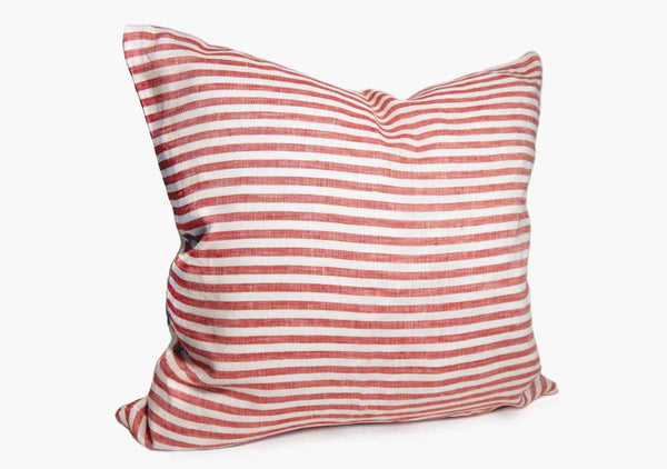 Sur La Mer Pillow In Red Narrow - 17""