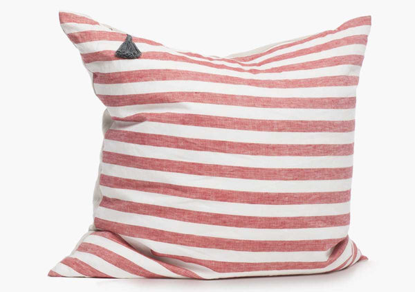 Sur La Mer Pillow In Red Wide - 26"