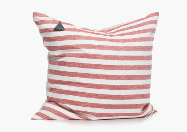 Sur La Mer Pillow In Red Wide - 17""