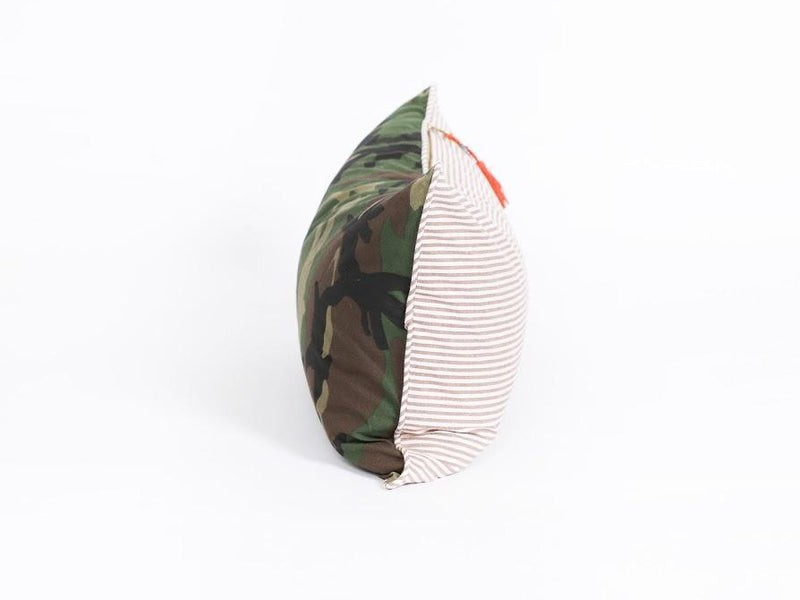 Lumbar Pillow in Camo and Toulouse