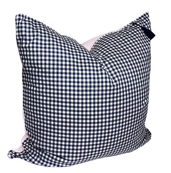 Gingham TP26  in Navy with Soft Pink Back and Pipe