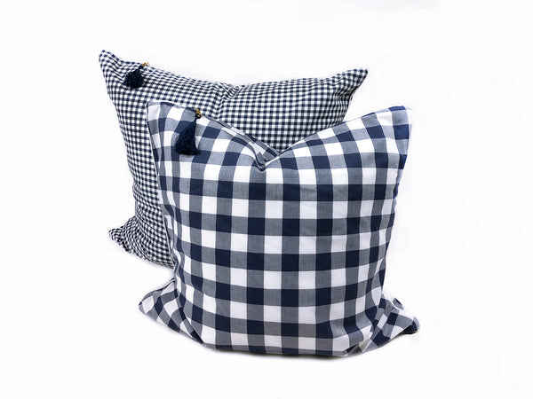 Buffalo Check Cotton in Blue with White Pipe – 26""