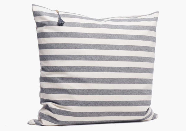 "Toulouse Pillow In Charcoal Wide - 26"" x 26"