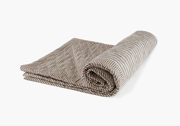 Quilted Throw in Toulouse Brown | Hedgehouse