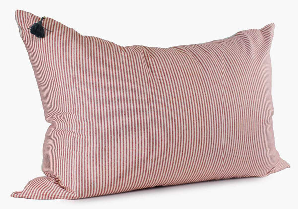 Toulouse Headboard Cushion In Red | Hedgehouse