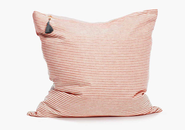 "Toulouse Pillow In Red - 17"" x 17"" 