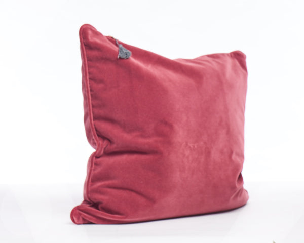 Velvet Pillow In Claret - 26"