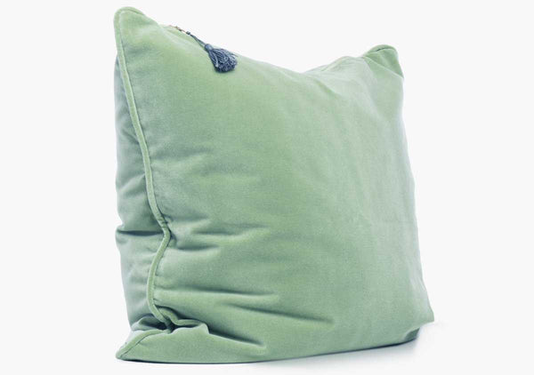 Velvet Pillow In Mint - 26""