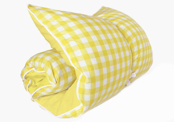 Fred Darling Gingham Throwbed in Lemon (with Lemon)
