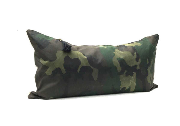 "Pillow In Combo Camo TexWax & Linen - 14"" x 26"""
