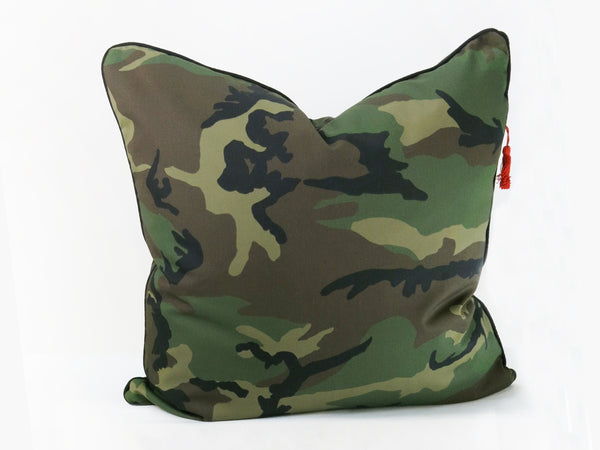 "Cotton Twill 26"" x 26"" Pillow In Camo 