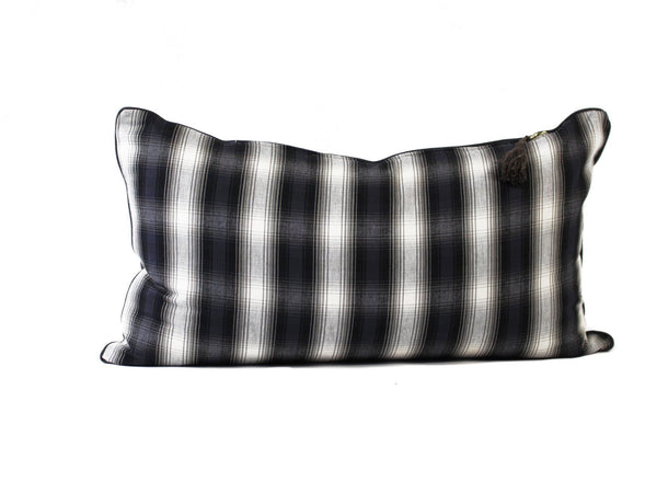 Lumbar Pillow in Plaid Flannel Cotton
