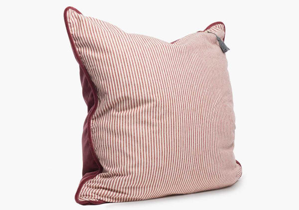 Velvet & Toulouse Pillow In Claret - 26""