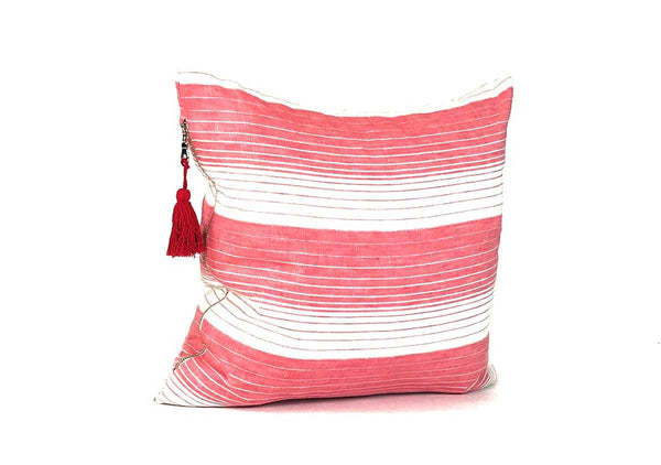 Cortina Pillow In Rosso - 17"
