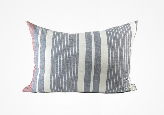 Majorca Headboard Cushion In Navy & Cranberry