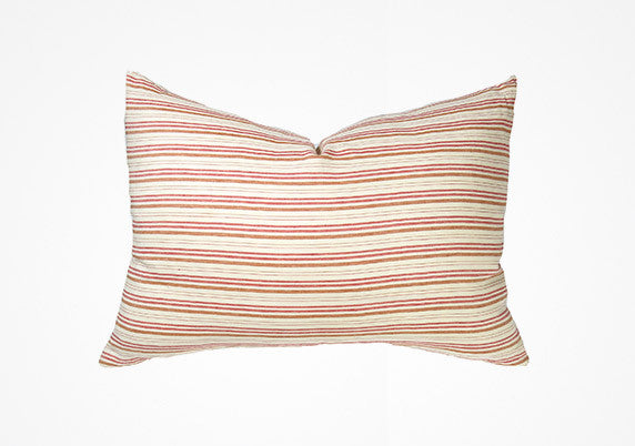 Deauville Headboard Cushion In Red  & Orange | Hedgehouse