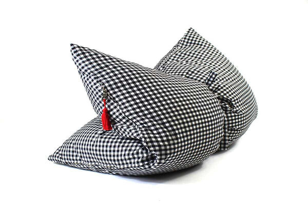 ARCHIVE:  Gingham Mini Throwbed in Black