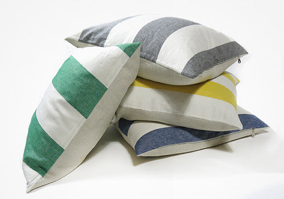 Harbour Island Pillow In Yellow - 26""