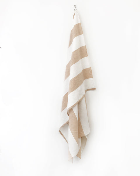 Harbour Island Butterscotch Linen Beach Towel