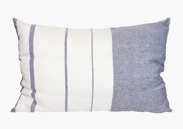 Majorca Vieja Blue Headboard Cushion