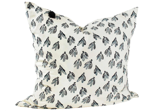 Normandy Throw Pillow In Blue Bows - 26""