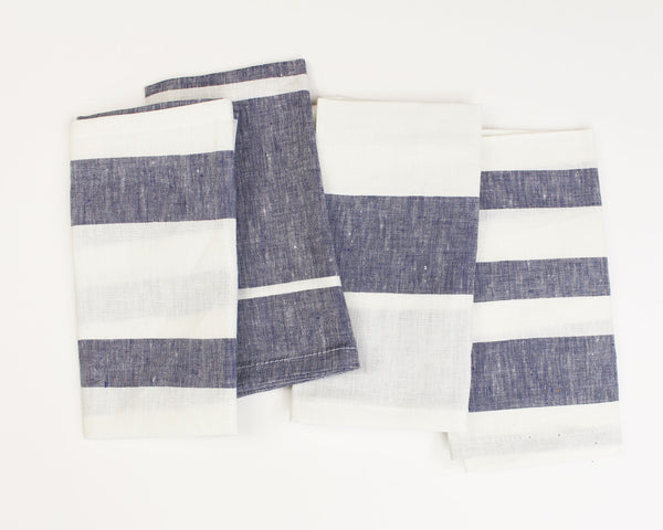 Majorca Napkin in Blue (Set of 4) | Hedgehouse