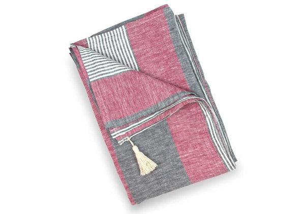 Skiathos Jack Linen Beach Towel | Hedgehouse