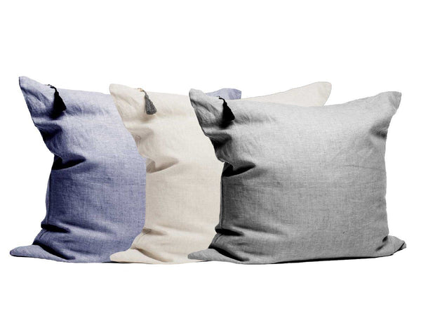 Throw Pillows in Solid Yarn-Dye