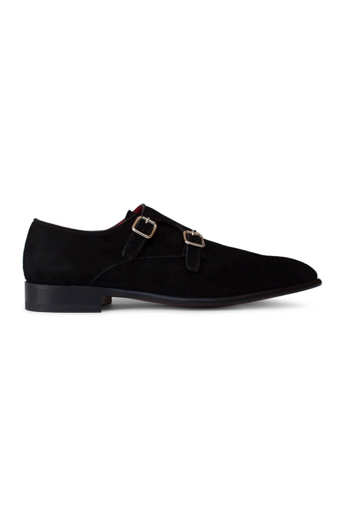 Luxor Nero Perforated Double Monk