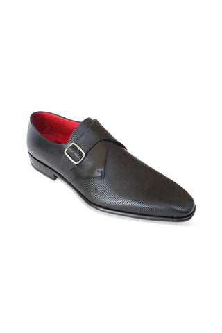 Leonardo Nero Perforated Single Monk