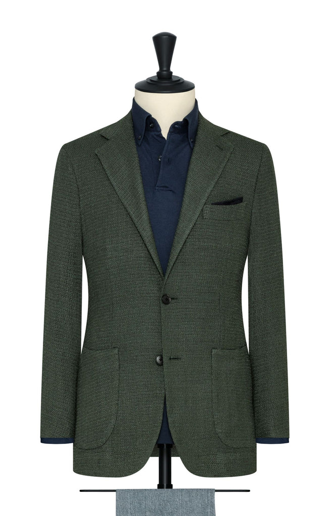 juniper green wool silk blend giro inglese