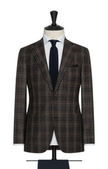 Paulo Oliveira mixed brown wool with blue white glencheck Inspiration