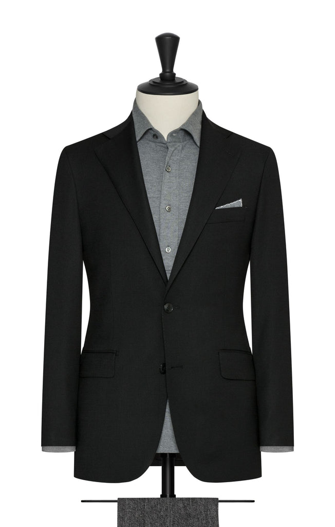 Paulo Oliveira Travel Jacket in Black Merino Wool Blend