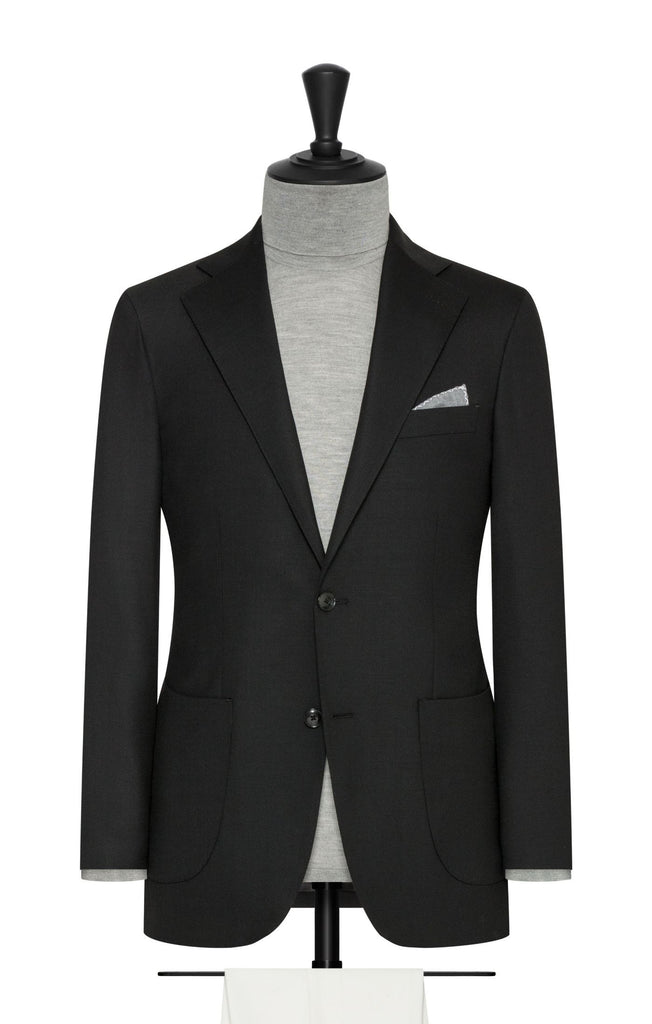 Paulo Oliveira Stretch Blazer in Black Merino Wool