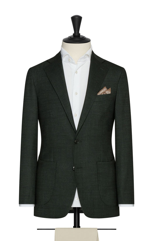 Paulo Oliveira Stretch Blazer in Juniper Green Merino Wool