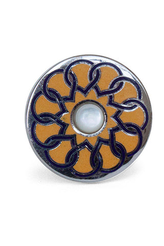 Pinwheel Yellow/Navy