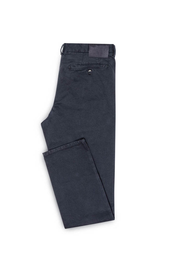 navy garment dyed stretch broken twill